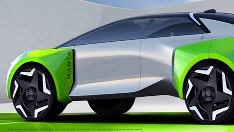 Havainnekuva tulevasta Opel Mantasta.