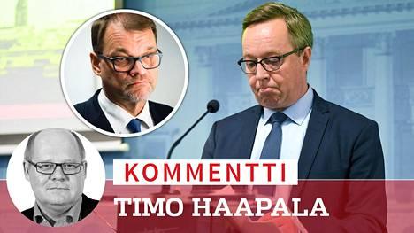 Keskustan linja on muuttunut 180 astetta Juha Sipilän (kesk) hallitukseen verrattuna. Lintilän budjettiesitys on peräti 2,3 miljardia alijäämäinen, kirjoittaa Timo Haapala.