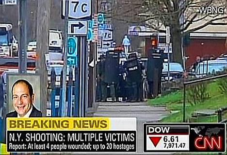 Aseistautunut mies on ampunut ainakin neljää ihmistä kansalaisjärjestön tiloissa Binghamtonin pikkukaupungissa.