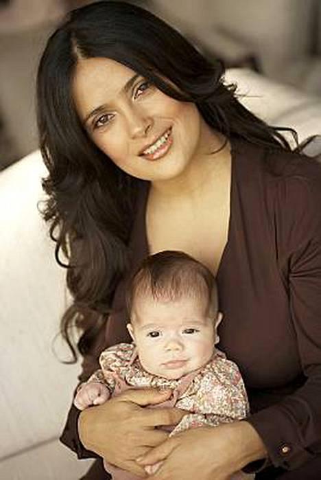 Salma Hayekin Valentina-tytär on kahden kuukauden ikäinen.