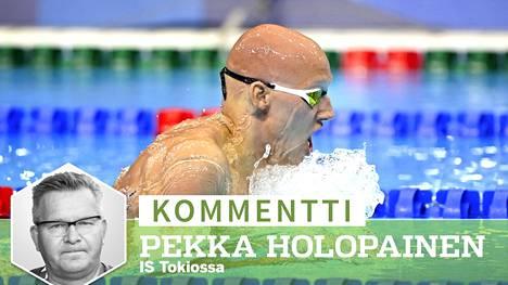 Matti Mattsson oli julmassa lyönnissä 200 metrin rintauinnin alkuerissä.
