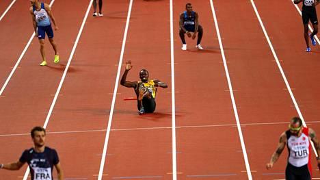 Usain Boltin ura päättyi loukkaantumisesta johtuneeseen keskeytykseen.