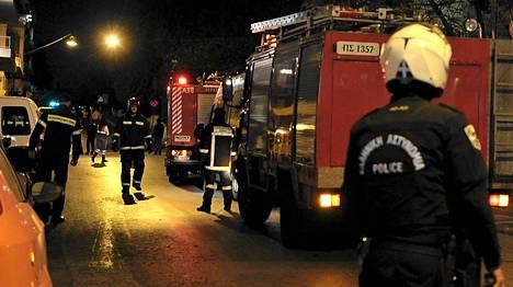 Ateenan keskustassa räjähti pommi keskiviikkona illalla.