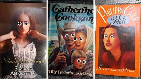 Silmätarrojen liimaaja piinaa Järvenpään kirjaston kirjoja.