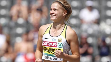 Louisa Grauvogel oli kuuden lajin jälkeen seitsemäntenä seitsenottelussa.