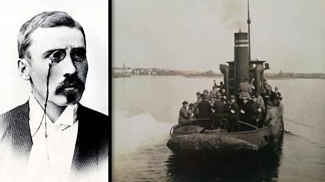 Algoth Untola, alias Maiju Lassila, astui tämän hinaajan kannelle nykyisen Presidentinlinnan edustalla 21.5.1918. Untola sai surmansa ennen kuin alus pääsi perille Santahaminaan.