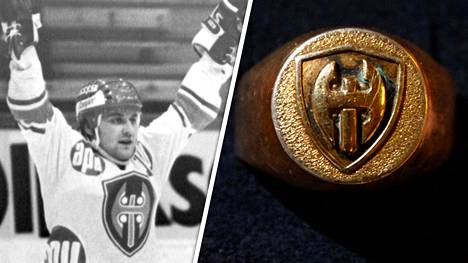Martti Jarkon mestaruussormus vuodelta 1975 huutokaupattiin lauantaina Lempäälässä.