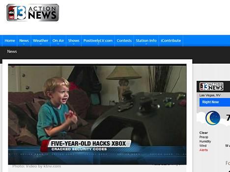 Viisivuotias ohitti Xbox Liven salasanan välilyönnillä ja sai esitellä sitä paikallisissa ktnv-uutisissa.