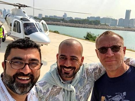 The Misfits -elokuvan tuottaja Kia Jam (vas.), tuottaja, näyttelijä Prince Rami Al Husseini ja ohjaaja Renny Harlin.