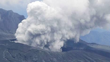 Mount Aso -tulivuori purkautui Japanissa keskiviikkona.