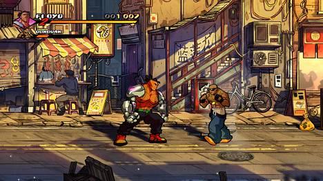Streets of Rage 4 näyttää kuin liikkuvalta sarjakuvalta. Myös äänipuoli on kunnossa, sillä korvia hellii maukkaasti syntikkateknoviritteinen musiikki.