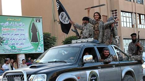 Isis-taistelijoita Pohjois-Syyriassa