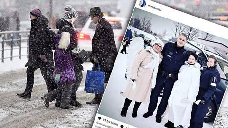 Suojatie-enkelit herättivät huomiota Kuopiossa.