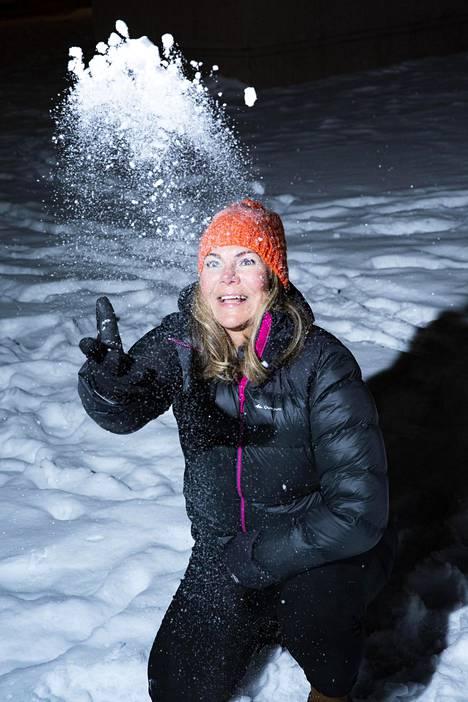 Tammikuussa Jaana oli käymässä Suomessa.