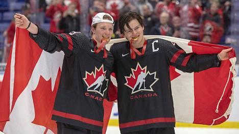 Kanada palasi nuorten jääkiekon valtaistuimelle Tshekin MM-kisoissa 2020.