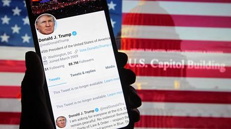 Yhdysvaltain presidentti Donald Trump on tullut tunnetuksi ahkerana twiittaajana.