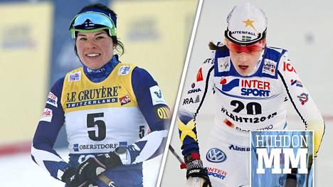 Krista Pärmäkoski (vas.) ja Ebba Andersson.