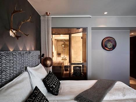 Lapland Hotels Bulevardissa pääsee saunomaan omassa hotellihuoneessa.