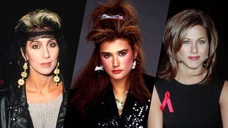 Cher, Demi Moore ja Jennifer Aniston. Nämä ikoniset tyylit olivat aikanaan maailmanluokan julkkistenkin suosiossa.