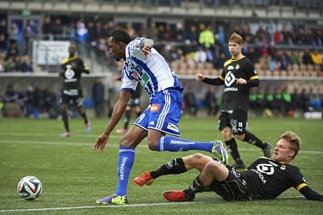 Macoumba Kandji teki viime kaudella HJK:lle 11 maalia, joista kuusi liigassa.