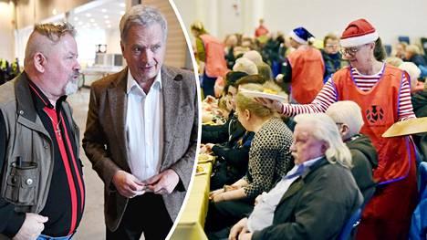 Sauli Niinistö vieraili Heikki Hurstin juhlassa.