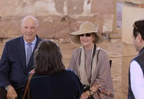Norjan kuningaspari vieraili Jordanissa.