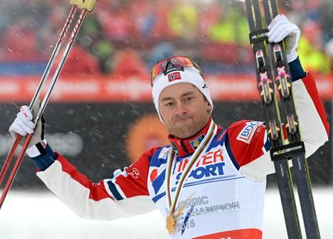 Petter Northug on voittanut 50 kilometrin MM-kultaa sekä perinteisellä että vapaalla tavalla.
