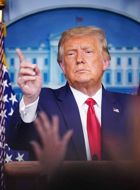 QAnon-väen sankari on Yhdysvaltain presidentti Donald Trump.