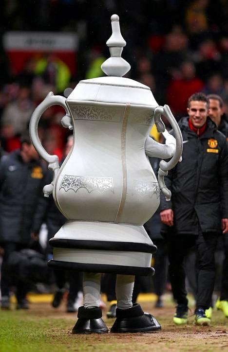 Jalkapallon perinteikkäällä Englannin cupilla on tällainen maskotti.