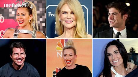 Muun muassa Miley Cyrus, Nicole Kidman, Zac Efron, Tom Cruise, Hilary Duff ja Demi Moore ovat laitattaneet hampaansa kuntoon.