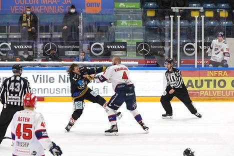 Libor Sulak ja Miro Karjalainen saivat rangaistuksen tappelusta.