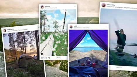 Kysyimme retkeilijöiden tarinat kuvien takaa.