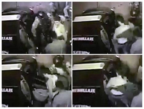 Toisen oppositiojohtajan Leopoldo Lopezin pidätys tallentui valvontakamerakuviin, joissa hänen johdatettiin poliisiautoon.