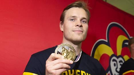 Mikko Lehtonen oli Leijonien MM-kultajoukkueen ykköspuolustaja keväällä 2019.