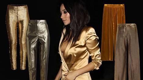 Kulta on yksi tämän talven ehdottomista trendisävyistä.