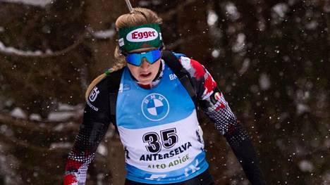 Lisa Theresa Hauser voitti ylivoimaisesti torstain kisan Italian Anterselvassa.