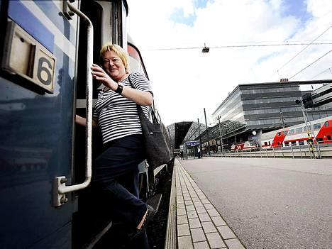 Sinikka Berg lähti maanantaina tutustumaan Lapin avoimiin työpaikkoihin.