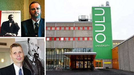 Sotahistorian tutkija Martti Turtola ja dosentti Lasse Laaksonen kommentoivat Oulun yliopistossa viime päivinä kuohuttanutta Mannerheim-vyyhtiä.