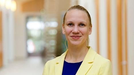 Oikeusministeriön valtiosihteeri Malin Brännkärr.