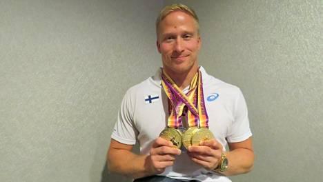 Berliinin satoaLeo-Pekka Tähti täytti palkintokaappiaan Berliinin EM-kisoissa kolmen kulta- ja yhden hopeamitalin verran.