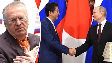 Vladimir Zhirinovski kommentoi neuvotteluja alueluovutuksista. Japanin pääministeri Shinzo Abe vieraili Moskovassa viikko sitten tapaamassa presidentti Vladimir Putinia. Kuriileiden saarten kiistan suhteen ei saatu aikaan mitään mainittavaa edistystä.