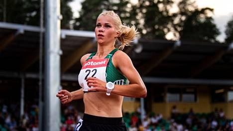 Alisa Vaino on kilpaillut viime vuosina harvakseltaan. Kuva on vuodelta 2018.