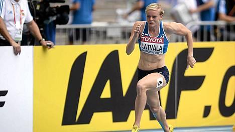 Hanna-Maari Latvalan vauhti ei riittänyt 200 metrin loppukilpailuun.