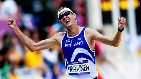 Jarkko Kinnunen käveli Lontoon olympialaisissa yhä voimassa olevan ennätyksensä.