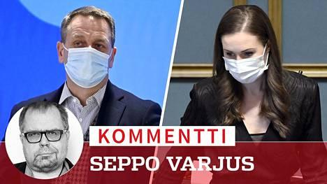 Pääministeri Sanna Marinin ja pormestari Jan Vapaavuoren kiistat pääkaupunkiseudun koronakriisin hoidosta jatkuvat.