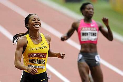 Sanya Richards oli Pariisissa naisten 400 metrillä täysin omaa luokkaansa.
