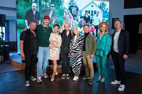 Vain elämää -ohjelman tähdet Vesku Jokinen, Stig, Arja Koriseva, Herra Ylppö, Jannika B, Ressu Redford, Mariska ja Reino Nordin.