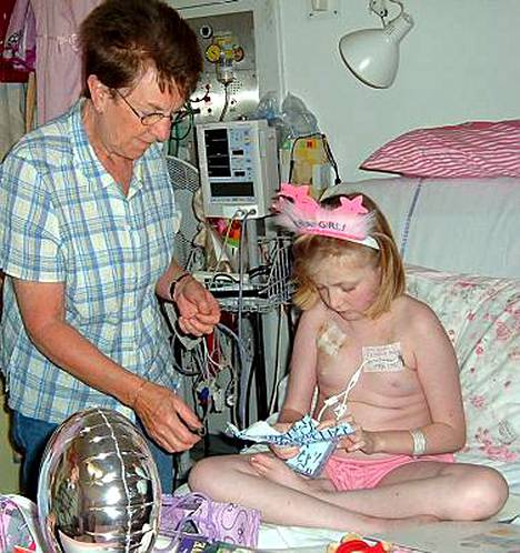 Hannahin synttärit pidettiin viime vuonna jälleen sairaalassa.