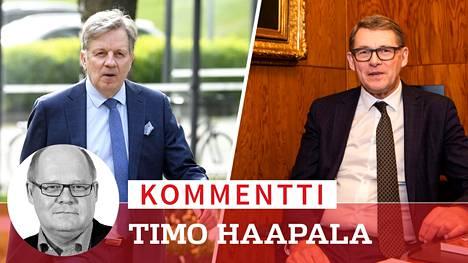 Vanhat konkarit Esko Aho ja Matti Vanhanen ovat keskusteluissa esillä keskustan uudeksi valtiovarainministeriksi.