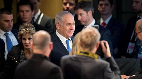 Israelin pääministeri Benjamin Netanjahu kuvattuna Saksassa helmikuussa 2018.